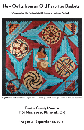 New Quilts from and Old Favorite: Basket quilts museum exhibition