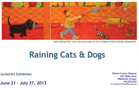 Raining Cats and Dogs juried art exhibition 2013