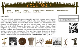 Cool Tools! museum exhibition at Benton County Historical Museum, Philomath, Oregon