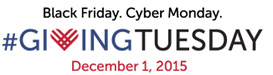 Giving Tuesday December 1, 2015
