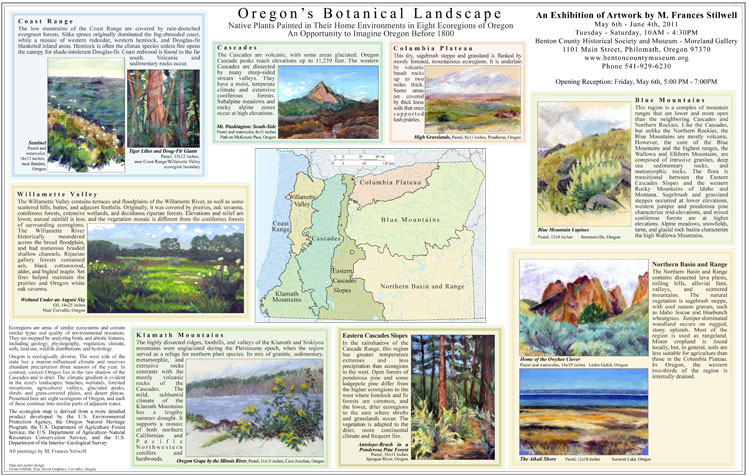 Oregon's Botanical Landscape ecorgion exhibition