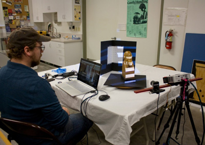 Digital 3D model making at Benton County Museum, 2016, by Alex Nyers of Northwest Archaeometrics