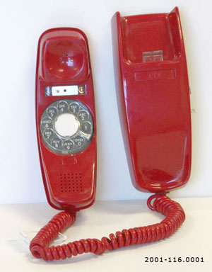 Red Streamline Desk Telephone