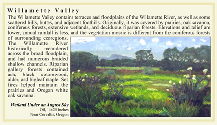Willamette Valley ecoregion artwork