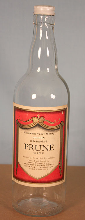 Willamette Valley Winery Prune Wine