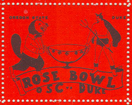 1942 Rose Bowl Sticker