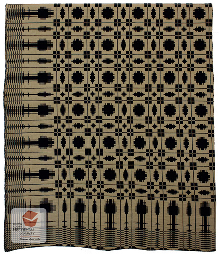 Coverlet from Washington pioneer Weedin family
