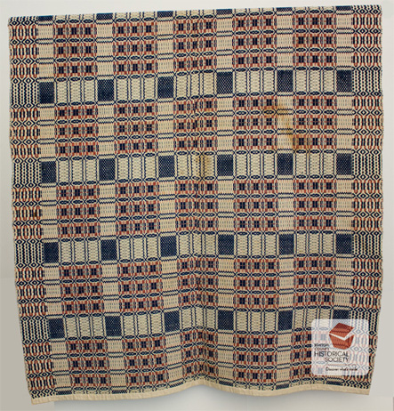 Canadian woven coverlet
