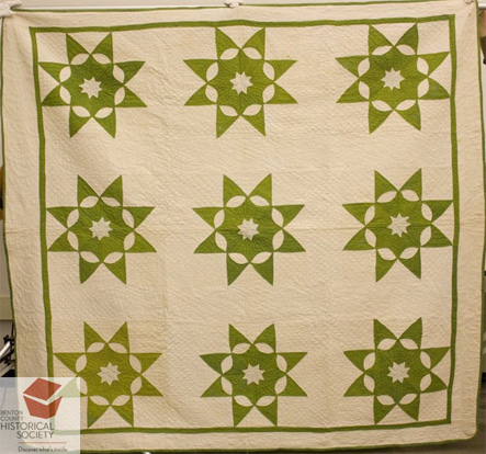 Diamond Star Quilt 19th century American