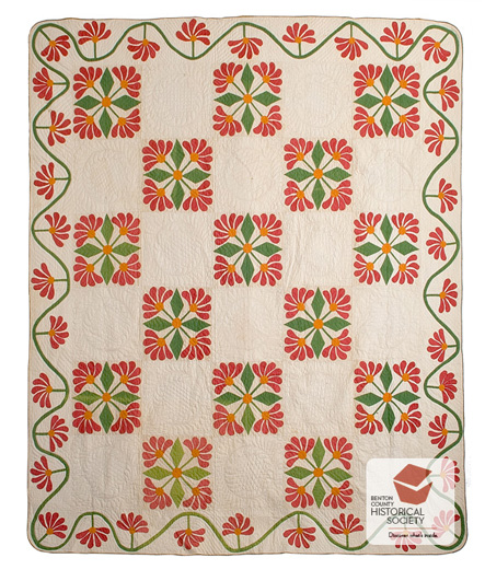 Prairie Rose pattern 19th century American quilt
