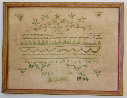 Be Davison Herrera's 1956 stitched sampler