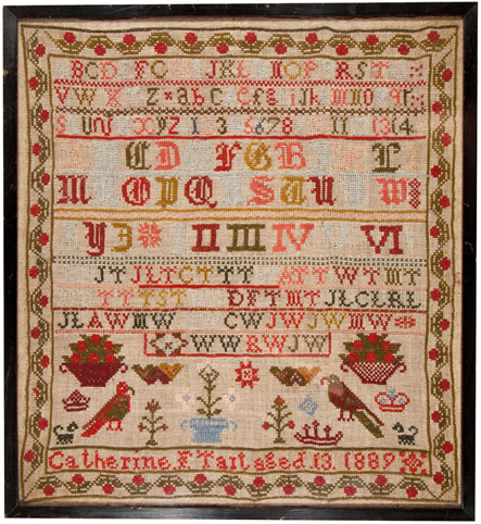 19th century Scottish sampler