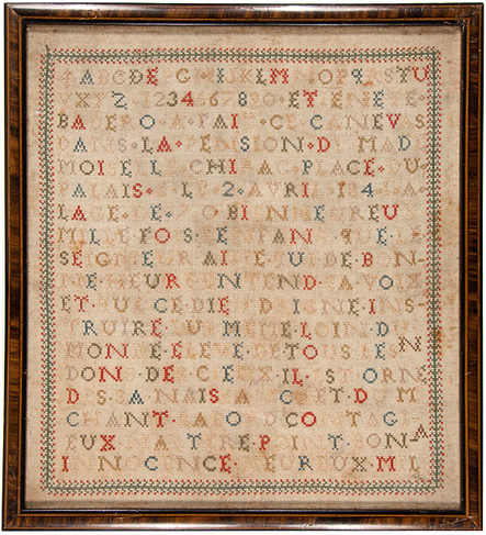 French cross stitch sampler
