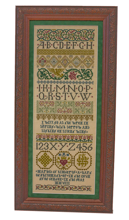 Celtic Band stitched sampler