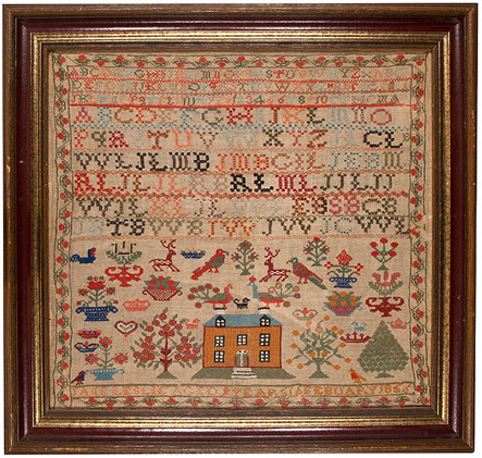 Mid 1800s Scottish stitched sampler