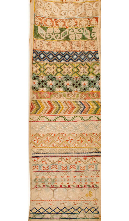 19th century Mexican textile sampler