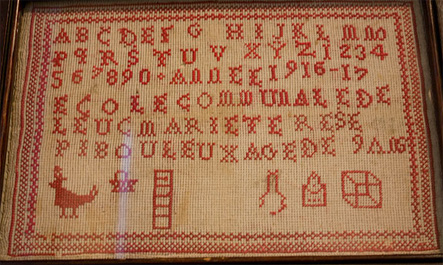 20th century French needlework sampler