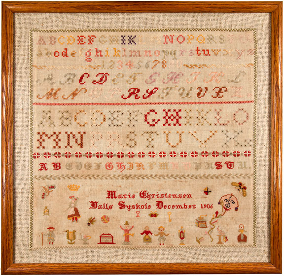 Marie Christensen Danish cross stitch sampler