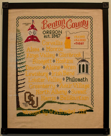 Walter Frankel design Benton County Oregon 2011 sampler