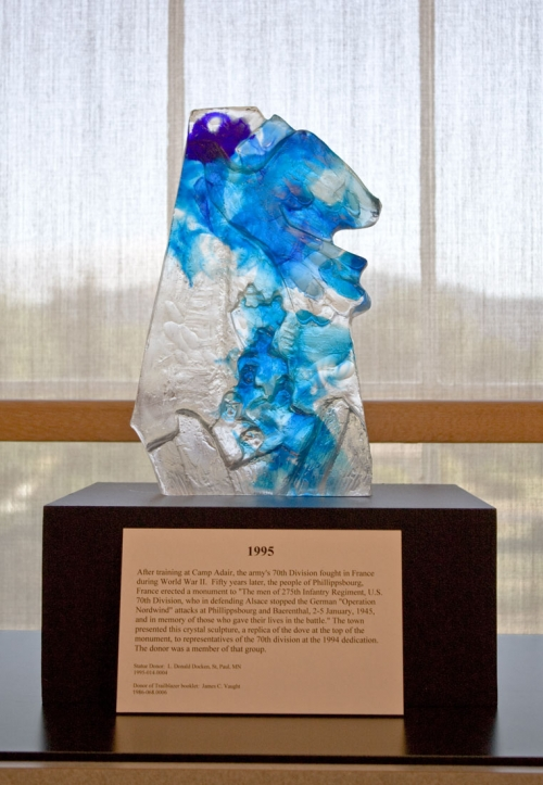 Crystal Sculpture Replica of Phillippsbourg Monument