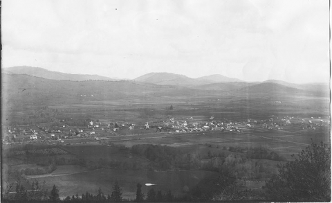 Panoramic photo of Philomath Oregon from Bennett Hill