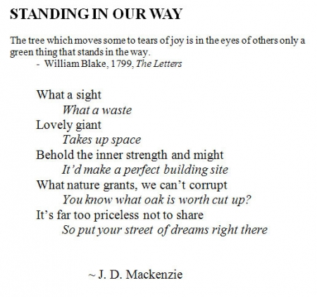 J.D. Mackenzie, Standing in Our Way
