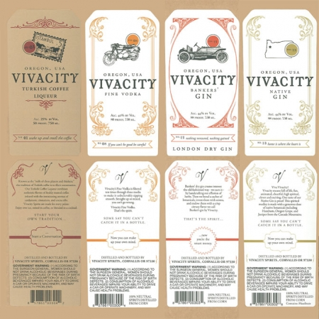 Vivacity Spirits Labels