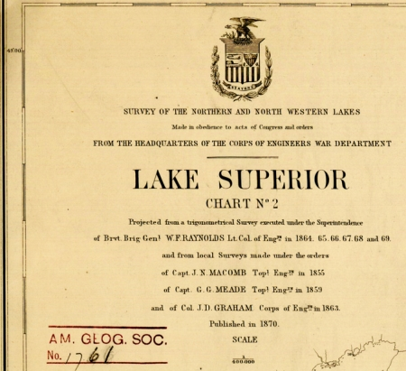 Raynolds Lake Superior Survey Chart