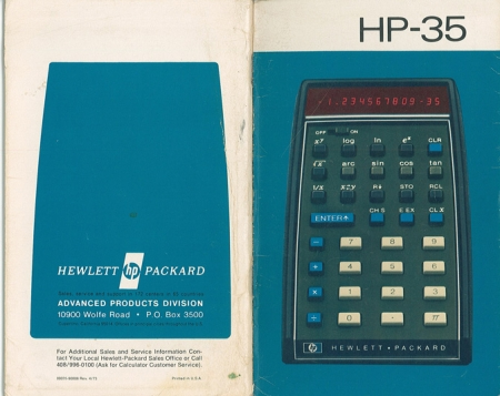 HP 35 Owner's Manual